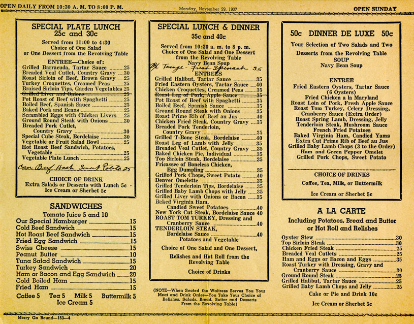 How Expensive Was It to Go Out to Eat in the 1930s?